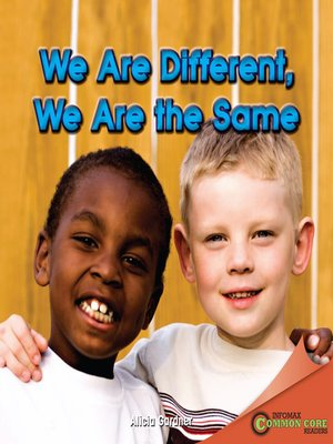cover image of We Are Different, We Are the Same